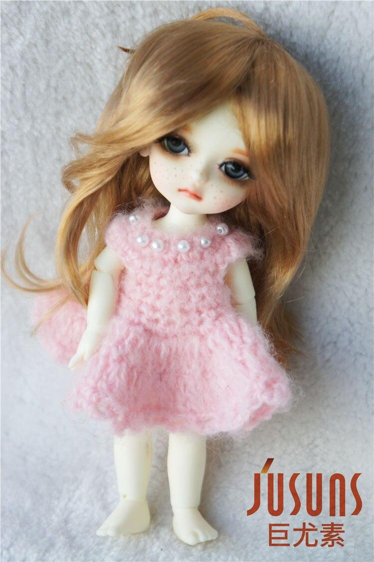 JD176 1/8 sintetis makiar anak patung wig panjang updo pigtail rambut - Anak patung dan aksesori - Foto 4