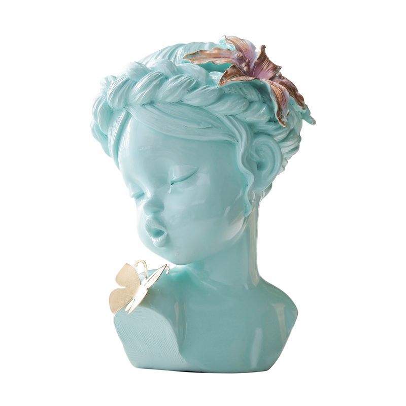 Angel Cute Girl Figurine Statue Art Sculpture Resin Cute Kissing Baby With Butterfly Love and Lucky Gift Home Decoration R356Angel Cute Girl Figurine Statue Art Sculpture Resin Cute Kissing Baby With Butterfly Love and Lucky Gift Home Decoration R356