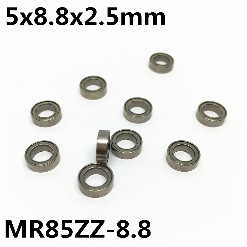 50Pcs MR85ZZ-8.8 5x8.8x2.5 Deep groove ball bearing Miniature bearing High qualit Model airplane