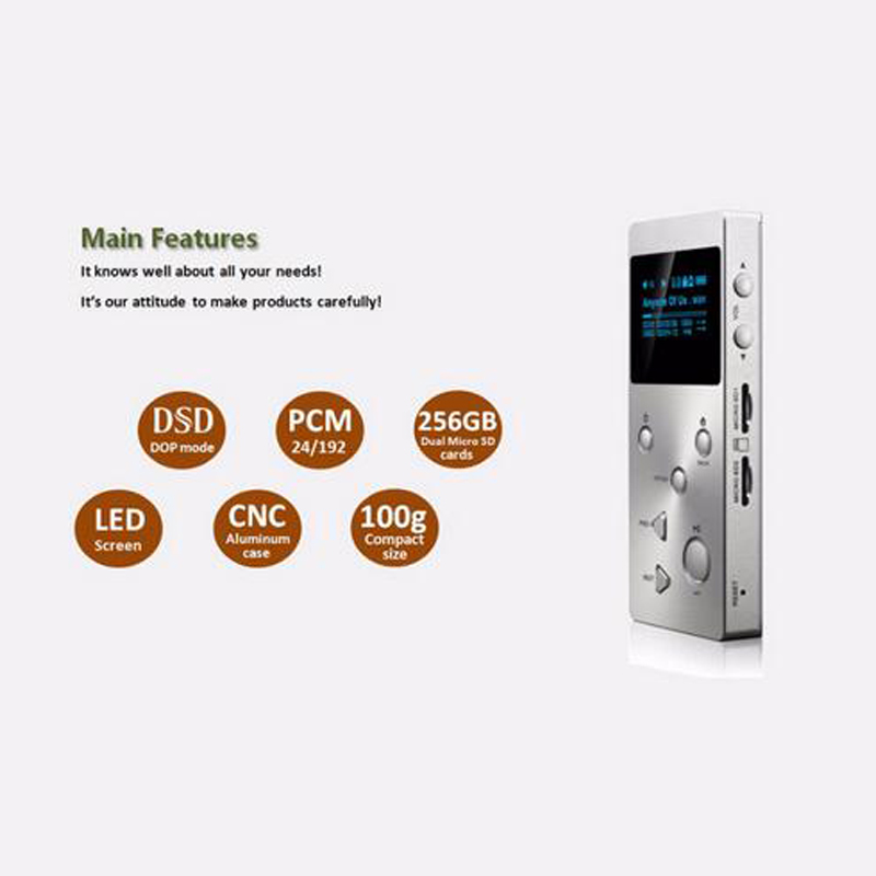US $142 0 |New XDUOO X3 Mp3 Music Player 256gb Professional Lossless  digital mp3 Support /FLAC/WAVWMA/OGG/MP3 Dual SD Card Mp3 player-in HiFi  Players