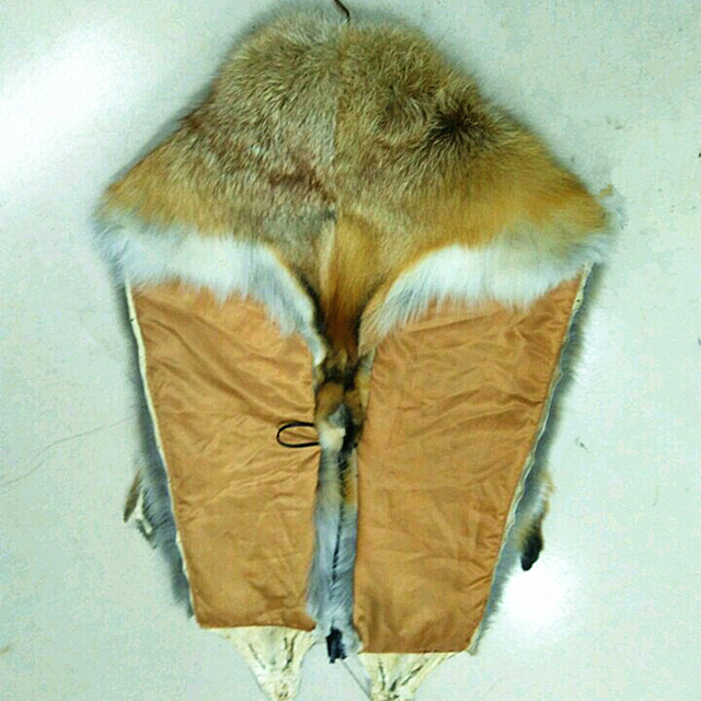real natural  fox full pellt  fur shawls scarf winter to keep warm thick warm genuine leather wool scarf