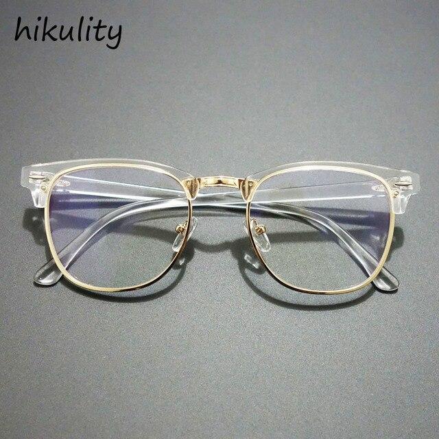 532fbfdeb4 84144 Vintage Half Frame Eyewear Frames Brand Designer Clear Glasses Men  Eyeglasses Women Frame Vintage Korea