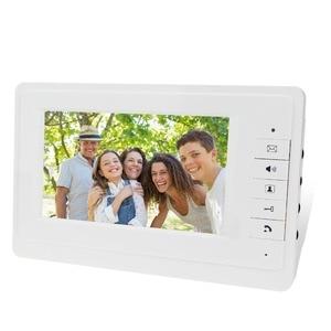 Image 3 - 7 kablolu renkli video kapı telefonu interkom sistemi seti seti dış ünite ile RFID kart okuyucu video kapı zili IR kamera + güç