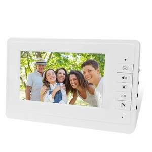 Image 3 - 7 wired צבע וידאו דלת טלפון אינטרקום מערכת ערכת סט עם חיצוני יחידה RFID כרטיס קורא וידאו פעמון IR מצלמה + כוח