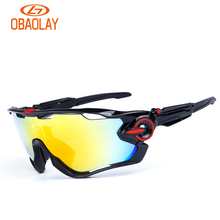 Obaolay 2017 Polarized Sports Men Sunglasses Road Cycling Glasses Mountain Bike Bicycle Riding Protection Goggles Mtb Eyewear