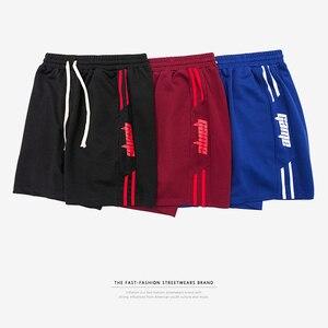 Image 4 - インフレメンズスポーツショーツストライプサイドコントラスト色ショーツ文字の印刷 highstreet ヴィンテージ男性ストリートショーツ