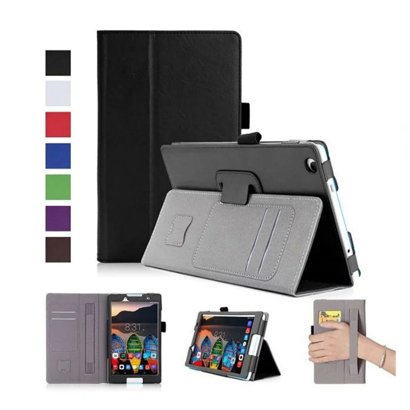 Tab2 Tab 2 A8-50F PU Leather Case Cover 8'' Tablet Wallet Stand Cases for Lenovo Yoga Tab3 Tab 3 8 TB3-850F/M Smart Shell Skin 2017 new for lenovo tab2 a8 pu leather stand protective skin case for lenovo 8 inch tab 2 a8 50 a8 50f tablets cover film pen