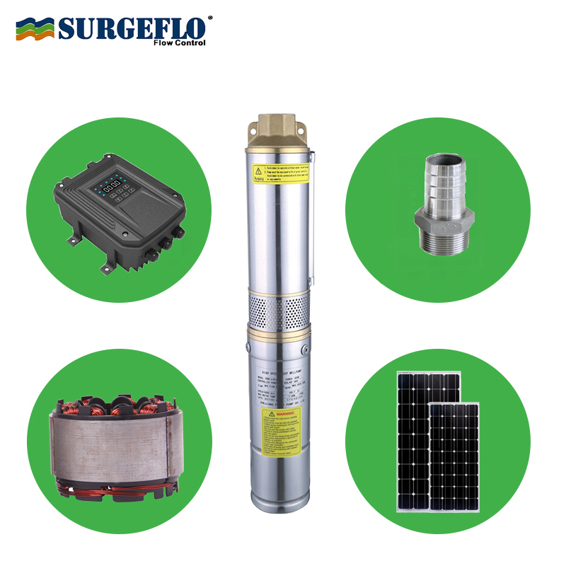 24v dc solar water pump submersible for garden free solar pump controller with MPPT function high speed motor solar pump set free shipping ss316 dc submersible solar pump solar water pump 1 cbm hr 30m model 3sps1 0 30