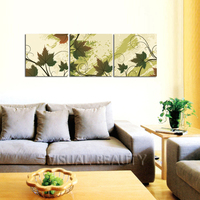 FREE SHIPPING Maple Leaves Wall Panel Art Canvas Paintings Art Prints Oil Paintings(Unframed)50x50cmx3pcs
