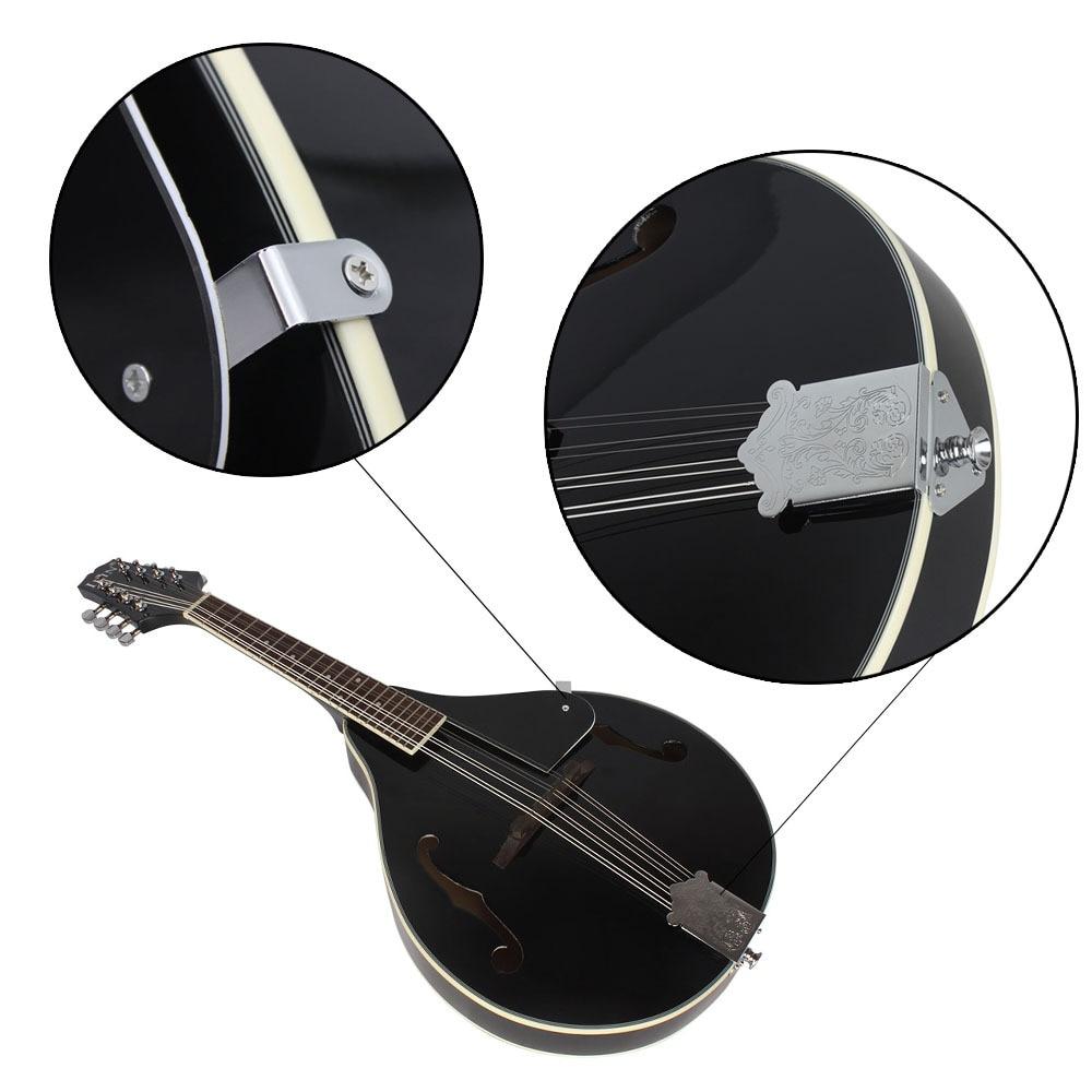 UM Estilo 8 Cordas Basswood Bandolim Ukulele Instrumento Musical com Rosewood Bandolim Cordas De Aço Guitarra Instrumento Ajustável - 5