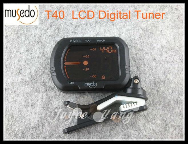 MUSEDO T-40  LCD Clip-On Digital Guitar Tuner Guitar/Bass/Violin/Ukulele Tuners Black Free Shipping комплект офисной мебели дэфо берлин офис к1