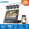 SANNCE 8CH 5in1 1080P HDMI VGA Output DVR 720P IR CUT Security Camera System 1TB