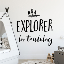 Funny explorer Wall Stickers Decorative Sticker Home Decor For Kids Rooms Vinyl Decal stickers muraux