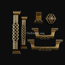Hotsale 10PCS Furniture Handles European Antique Carved Drawer Wardrobe Cupboard Closet Cabinet Kitchen Pulls Handles & Knobs стоимость