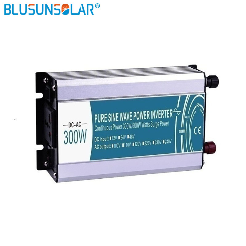 DC/AC 300W 12v/24v/48v pure input sine wave power inverter to110v 220v 230v  50/60hz inverter