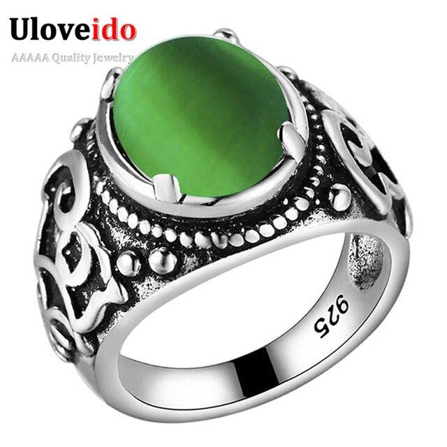 15% de descuento señoras anillo con una piedra verde joyería de ...