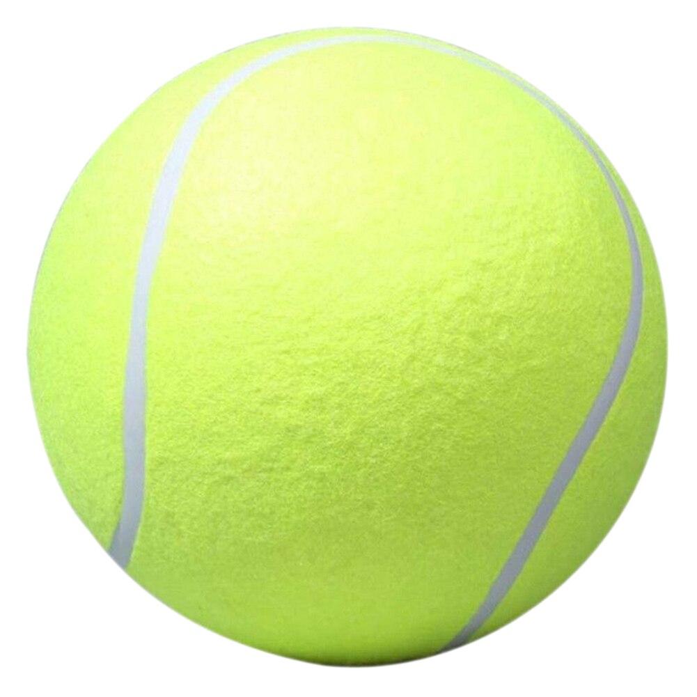 """24 ס""""מ כדור טניס עבור חיות מחמד ללעוס גדול צעצוע מתנפח ענק חתימת כדור טניס מגה חיצונית אספקת צעצוע לחיות מחמד כדור ג 'מבו קריקט"""