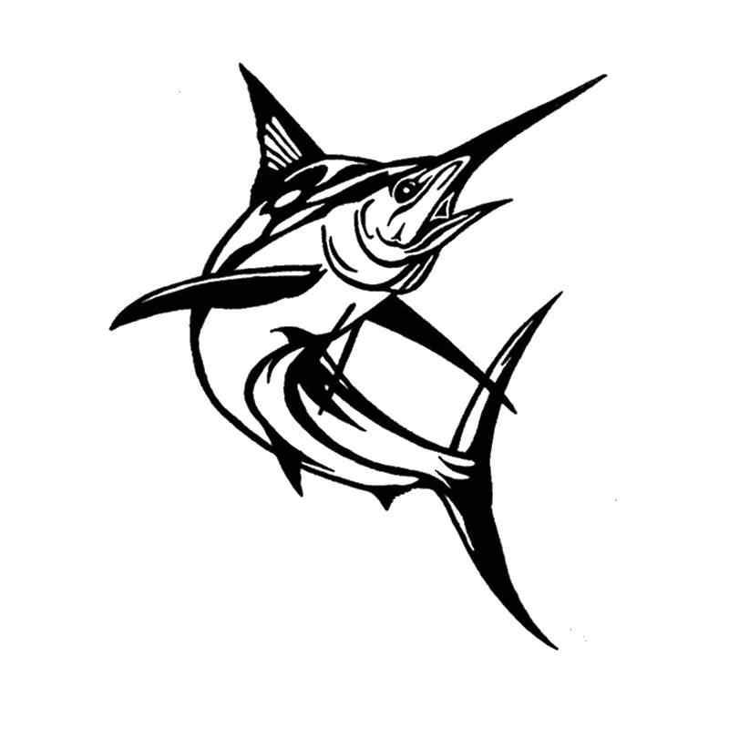 Angeln Aufkleber Auto Segelfisch Fisch Aufkleber Angeln Haken Tackle Shop Poster Vinyl Wand Abziehbilder Hunter Decor Wandbild Aufkleber
