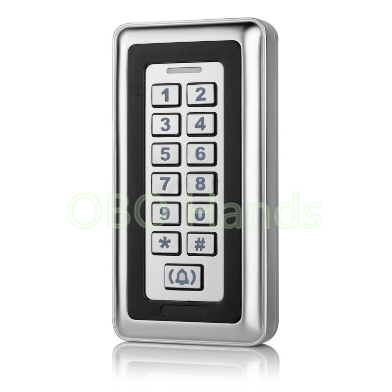 RFID Door Locks Waterproof Access Control Metal Touch Keypad For Security Door Access Control System Card Reader Electric Lock rfid ip65 waterproof access control touch metal keypad standalone 125khz card reader for door access control system 8000 users