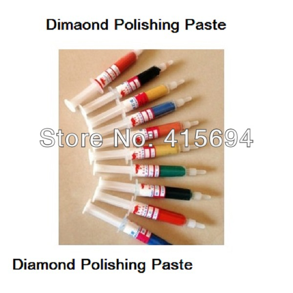 10pcs/set Polishing Paste Diamond Paste For Polishing Wax For Metal Mirror Polished Syringes .