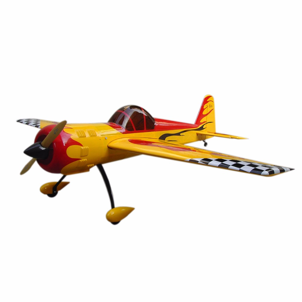 Sky fly YAK 55 50cc 86.6/2200mm Balsa Wood Gas RC/Airplane Oracover Film IN US