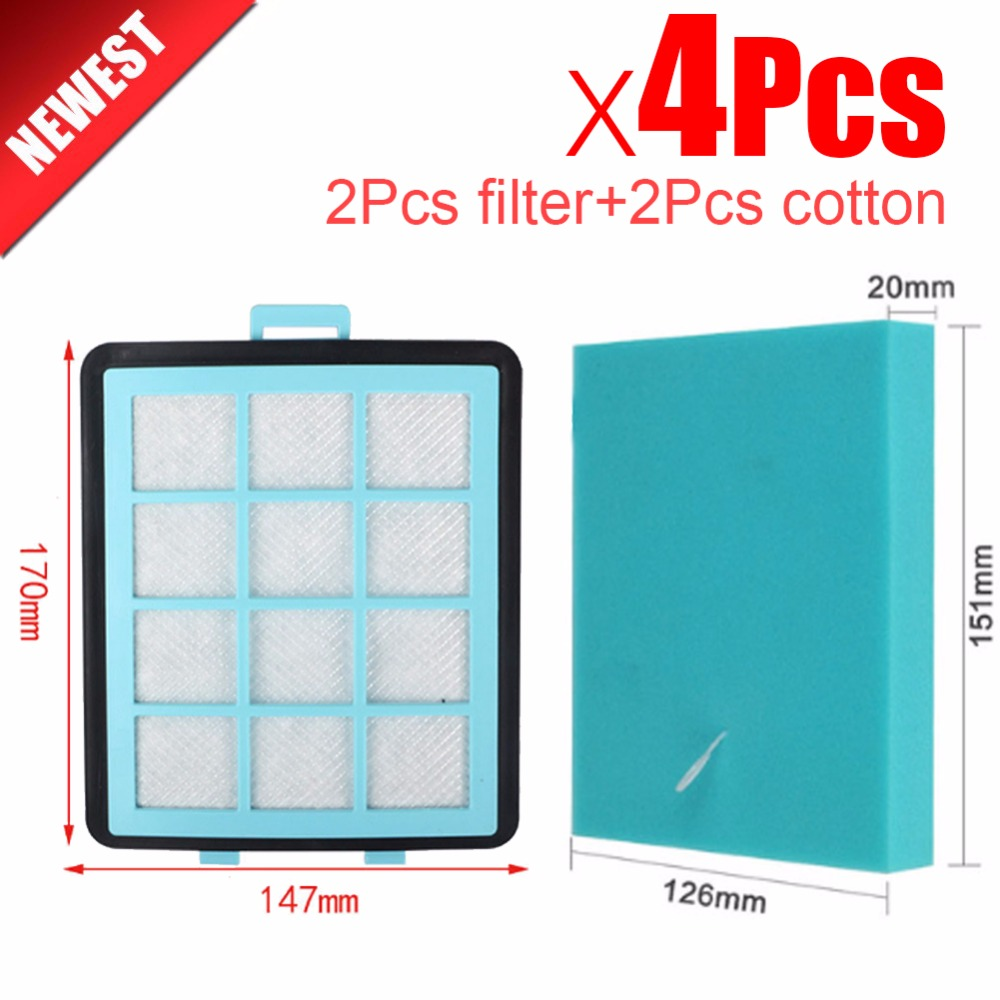 2Pcs Filter+2Pcs cotton For Philips FC8760 FC8761 FC8764 FC8766 FC8767 FC97** Vacuum Cleaner dust HEPA Filters parts 5pcs free shipping vacuum cleaner filter accessories parts hepa filter for philips fc8760 fc8764 fc8766 fc8761 fc8767