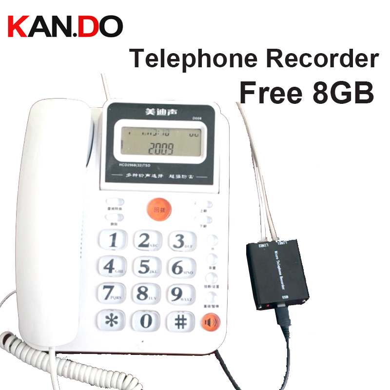 8GB landline TELEPHONE monitor telephone recorder Landphone voice activated logger
