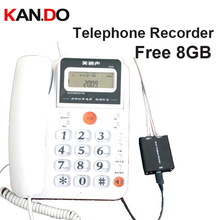 8GB landline TELEPHONE monitor telephone recorder Landphone monitor recorder voice activated voice recorder telephone logger telephone telephone telephone
