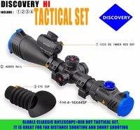 Бренд Discovery Здравствуйте 4 16X44SF riflescopes оптический прицел с 1X25 red dot для охоты Collimator Sight Aim Scope Ночная охота