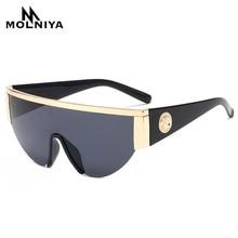 Men Metal Sunglasses Classic Women Half Frame Sun glasses Siamese Lens Gradient Eyeglasses UV400 New Product