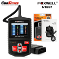 Original do carro de diagnóstico do scanner automotivo foxwell nt201 obd 2 code reader desligue mil scanner obdii elm327 escaner melhor do que