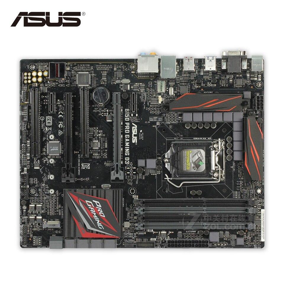 For B150 PRO GAMING D3 Original Used Desktop Motherboard For Intel B150 Socket LGA 1151 For i7 i5 i3 DDR3 64G SATA3 ATX