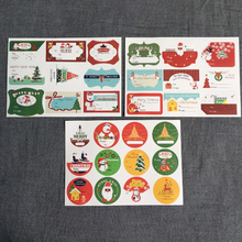 10sheets/lot kawaii paper Christmas theme adhesive seal sticker gifts sealing sticky decorative package label