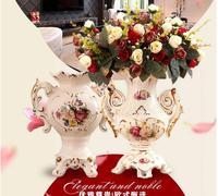 European living room table set pieces of antique home creative decoration flower vase porcelain