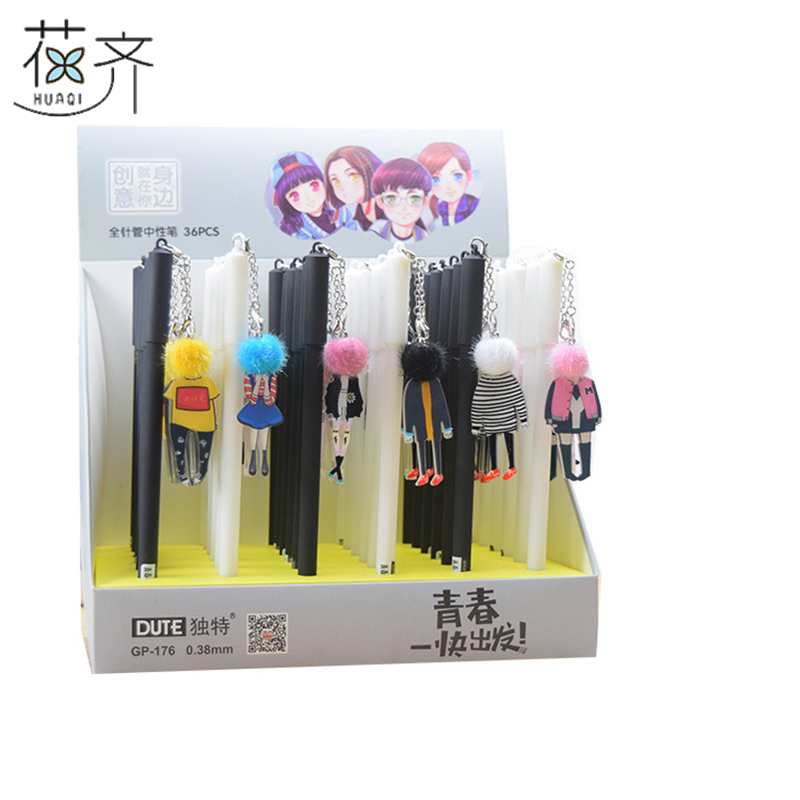 Huaqi 4pcs Funny Doll Hipster Pendant Gel Pen Signature Pen Escolar  Papelaria Kawaii School Office Supply Promotional Gift In Gel Pens From  Office U0026 School ...
