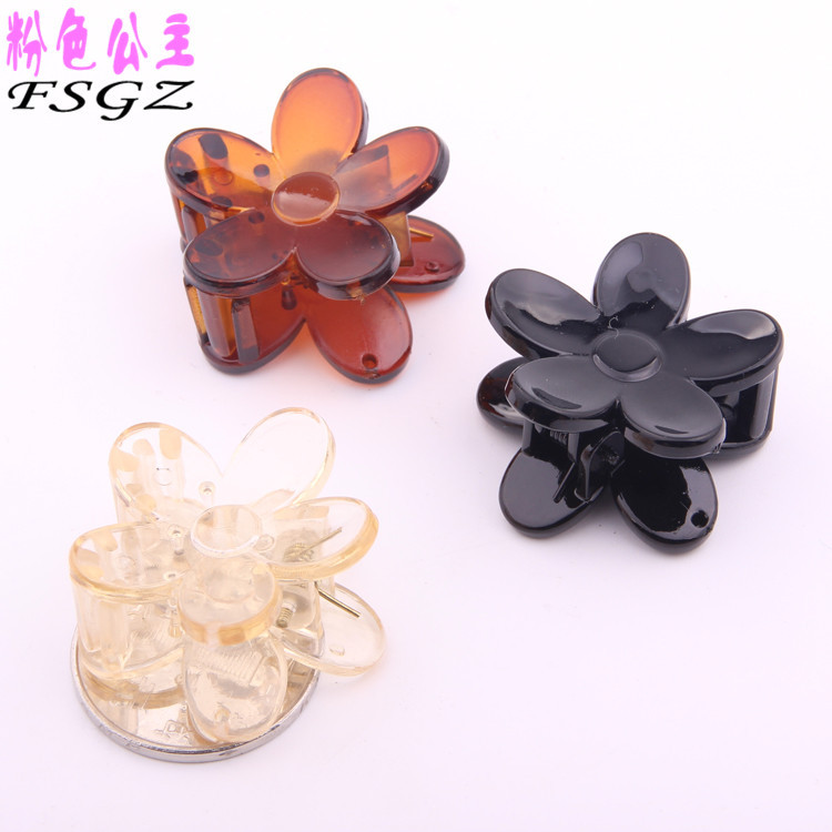 6 PIECES New Style Fashion lovely small flower design hair clips for girls ABS & PC mini hair claws for children 3*3cm kitavt75417unv10200 value kit advantus id badge holder chain avt75417 and universal small binder clips unv10200