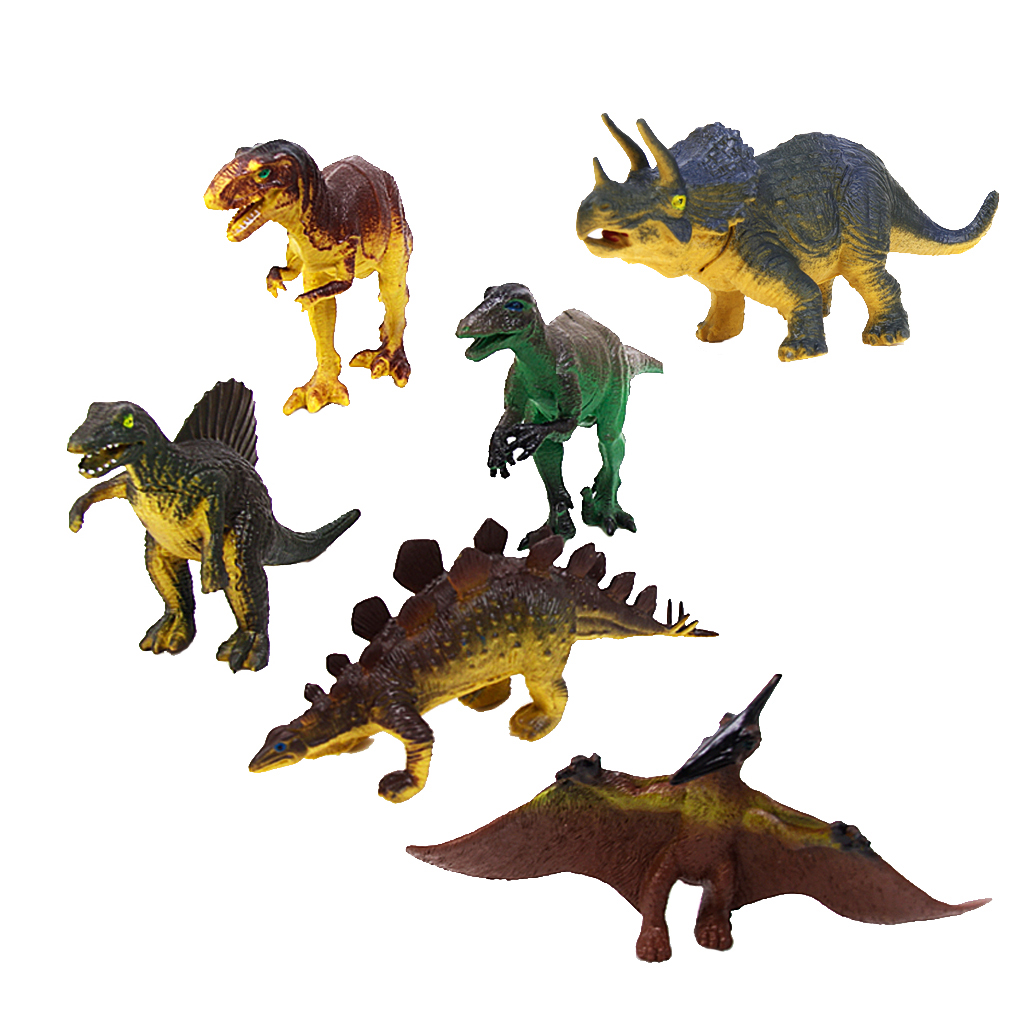 6Pcs/Set Dinasours Model Early Learning Kids Child Toys Game Collectibles Gifts