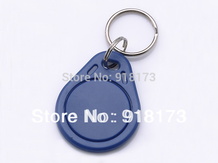 100pcs/bag RFID key fobs ring 125KHz  proximity ABS ID key tags for access control with TK4100/EM 4100 chip free shipping dhl ems 5 pcs for key ence proximity sensor switch em 030 em030 d1