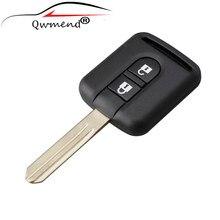 2 кнопки сменный автомобильный брелок для Nissan Qashqai Navara Micra NV200 Patrol Y61 2002-2016 Автомобильный ключ оболочка