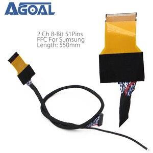 Image 2 - FFC LVDS כבל 2 ch 8 סיביות 51 סיכות 51pin כפולה 8 כבל גמיש שטוח כבל עבור LED פנל v400HJ6 PE1 550mm אוניברסלי LCD Controlle