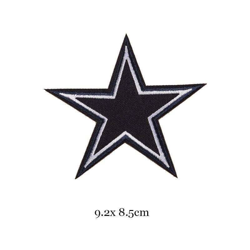 1 шт., черные, белые байкерские нашивки для одежды, железная одежда, аппликация с буквами, Череп, звезда, полосы, вышитая наклейка, круглый значок - Цвет: 39