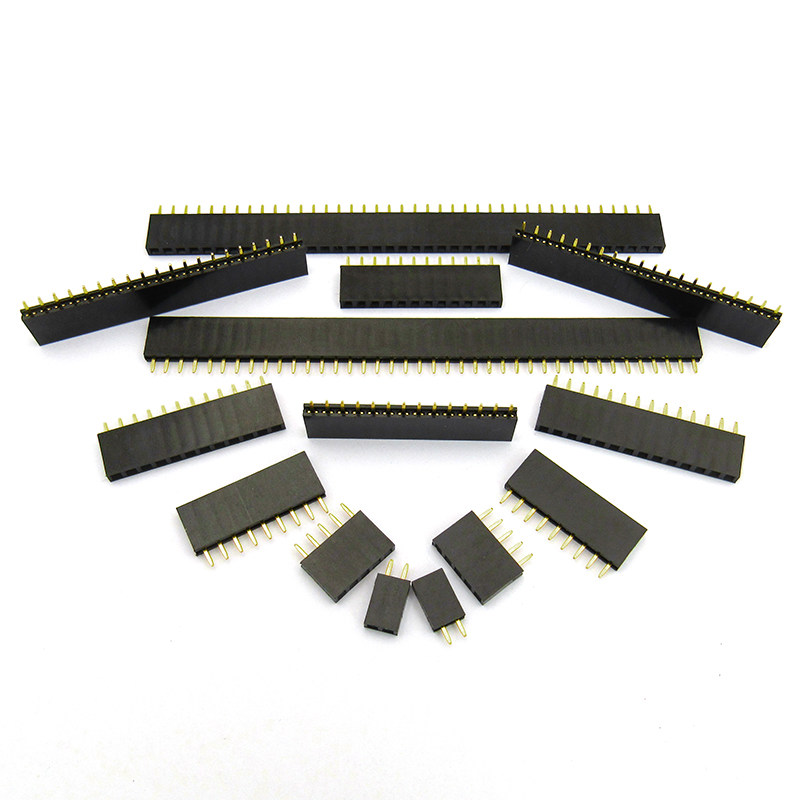 Back To Search Resultslights & Lighting 100pcs 2.54mm Female Header Single Row Straight 0.1pitch Pcb Female Pin Header Connector 2/3/4/5/6/7/8/9/10/12/13/14/15/16/20p Lustrous