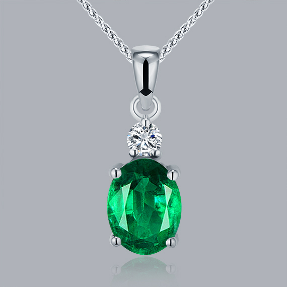 18k white gold emerald pendants genuine diamond oval cut 6x8mm wp057 18k white gold emerald pendants genuine diamond oval cut 6x8mm wp057 in pendants from jewelry accessories on aliexpress alibaba group aloadofball Choice Image