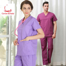 Short - sleeved surgical dress for both male and female doctors brush hand cotton suit separate nurses