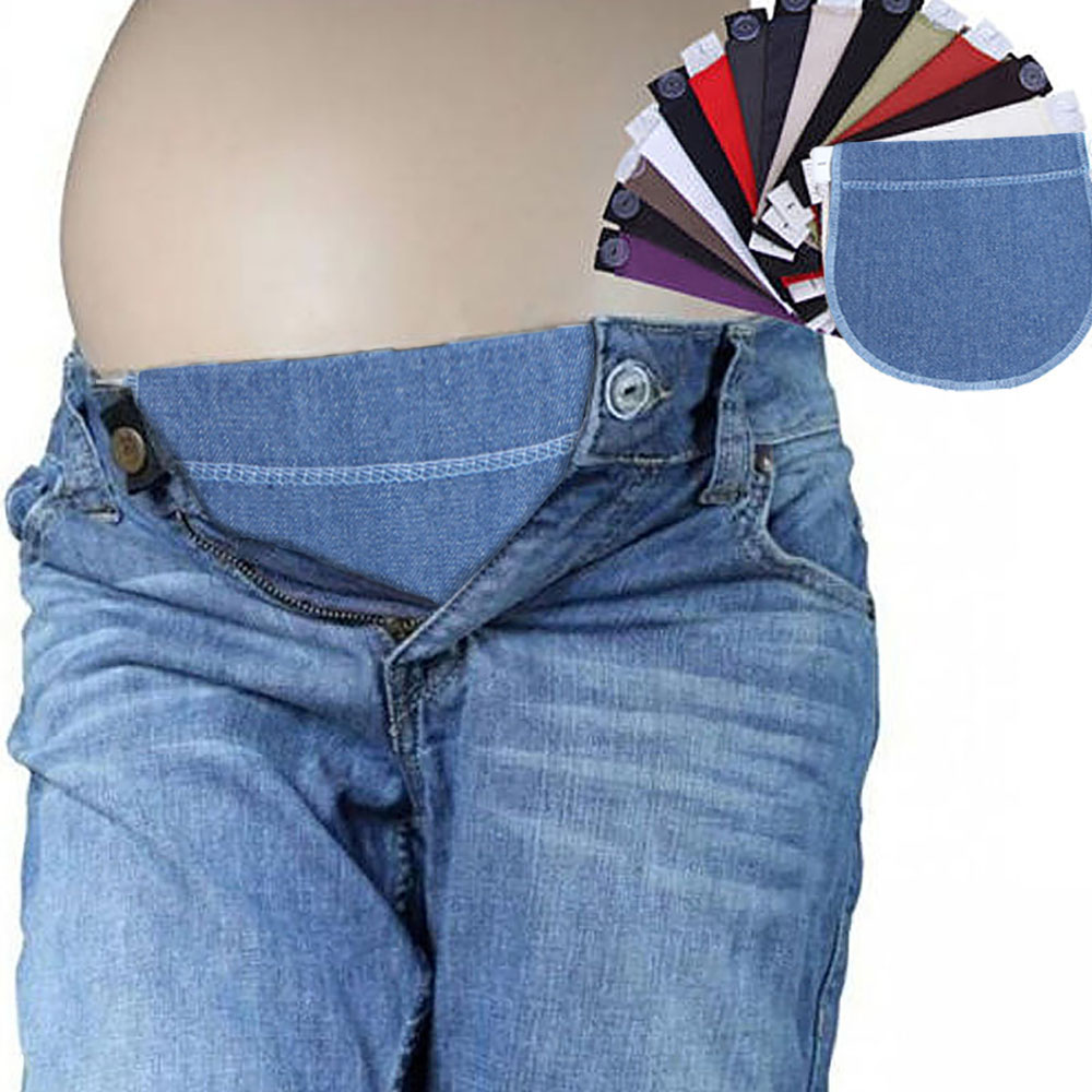 2019 Pregnancy Waistband Spuc Belts Adjustable Elastic Waist Lengthening Button Pants Extended Prenatal & Postnatal Supplies