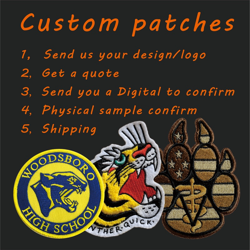 Custom Back Patches No Minimum  Embroidery Patches For Jacket