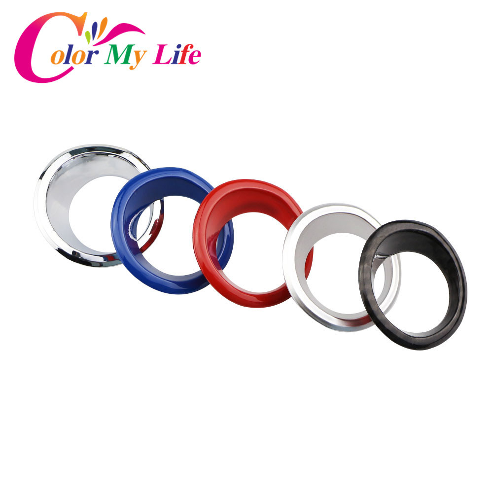 Color My Life Car Chrome Ignition Switch Key Decoration Ring Circle Trim Sticker for Jeep Compass 2017 2018 Renegade 2015 - 2018 my fairies sticker storybook