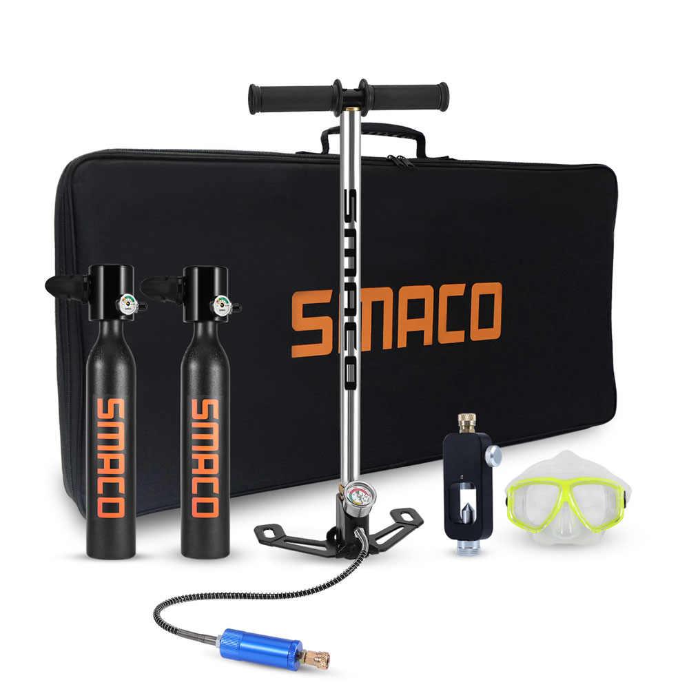 SMACO معدات غطس صغير الغوص اسطوانة خزان الأوكسجين الغوص للغوص تحت الماء السباحة التنفس الملحقات
