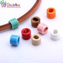Olingart 17*14 мм 6 шт/лот кожаные застежки керамические бусины