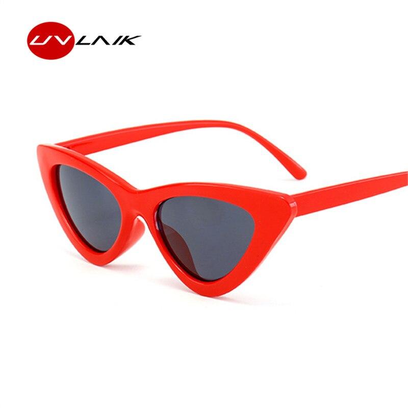 UVLAIK Retro Cat Eye Kleine Dreieck Sonnenbrille Für Frauen Weibliche 2018 Neue Sonnenbrille Cateye Street Style Shades Sunglass Eyewear